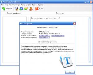 Pestretsov Font Viewer