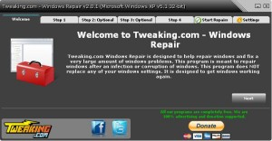 Tweaking.com - Windows Repair