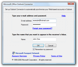 Microsoft Office Outlook Hotmail Connector