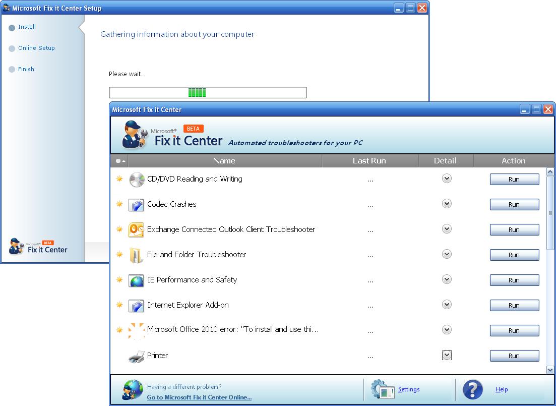 Скачать Microsoft Fix it Center бесплатно для Windows XP, 7, 8, 10