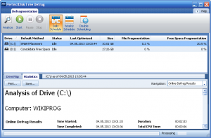 PerfectDisk Free Defrag