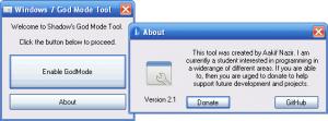 Windows 7 God Mode Tool