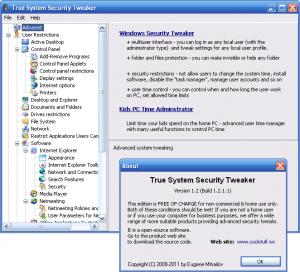 True System Security Tweaker