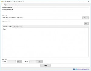 Duplicate Office File Remover Free