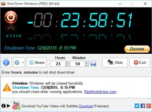 Shut Down Windows Scheduler