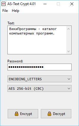 AS-Text Crypt