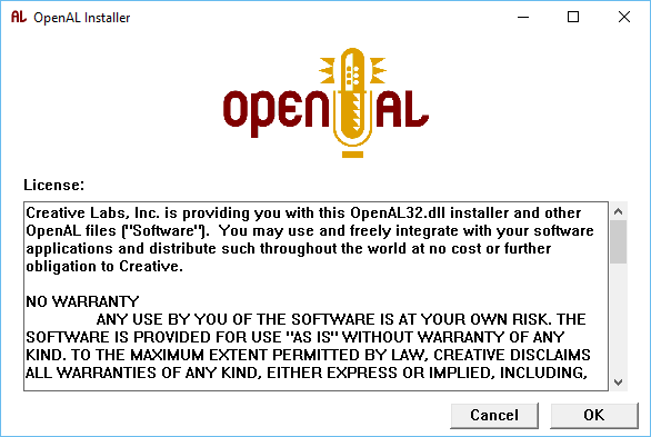 CREATIVE OPENAL DRIVERS FOR WINDOWS 8