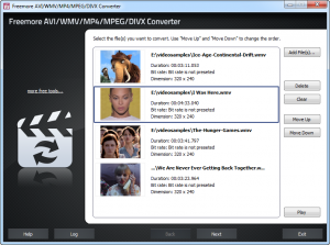 Freemore AVI WMV MP4 MPEG DIVX Converter