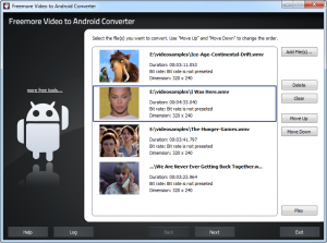Freemore Video to Android Converter